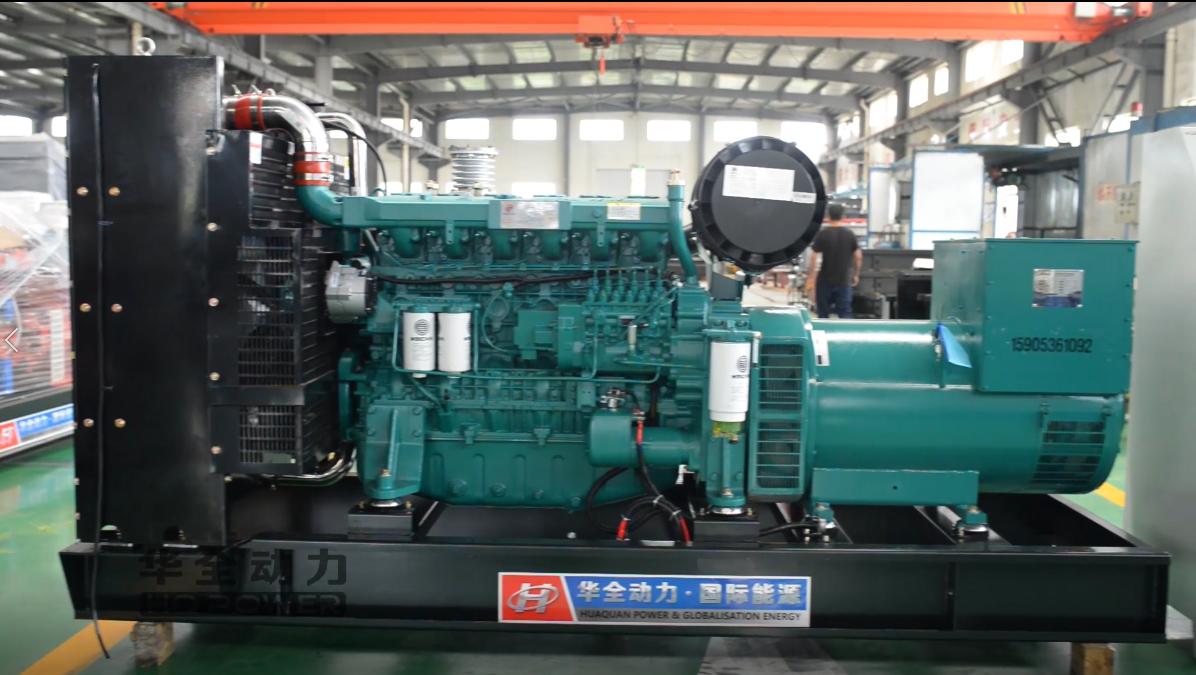 正宗潍柴300千瓦柴油发电机组 自动化配置:华全视频