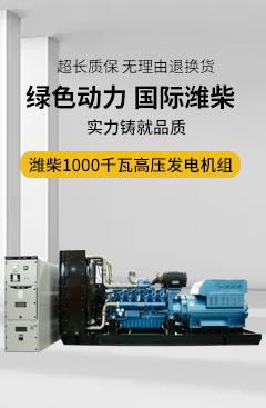 华全100千瓦高压发电机组 选用潍柴博杜安12缸发动机 动力强