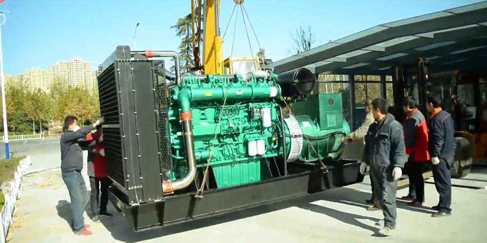 华全2台600千瓦发电机组 入驻大型商超